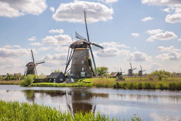 Nederlandse molens bij Kinderdijk